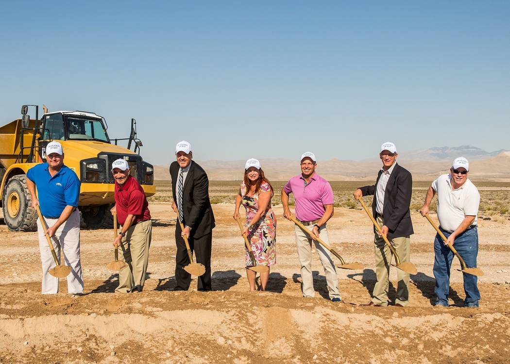 Inspirada master-planned community in Henderson breaks ground on a 3-mile roadway expansion, which will open two paved lanes of Via Inspirada to Las Vegas Boulevard. (Mona Shield Payne)