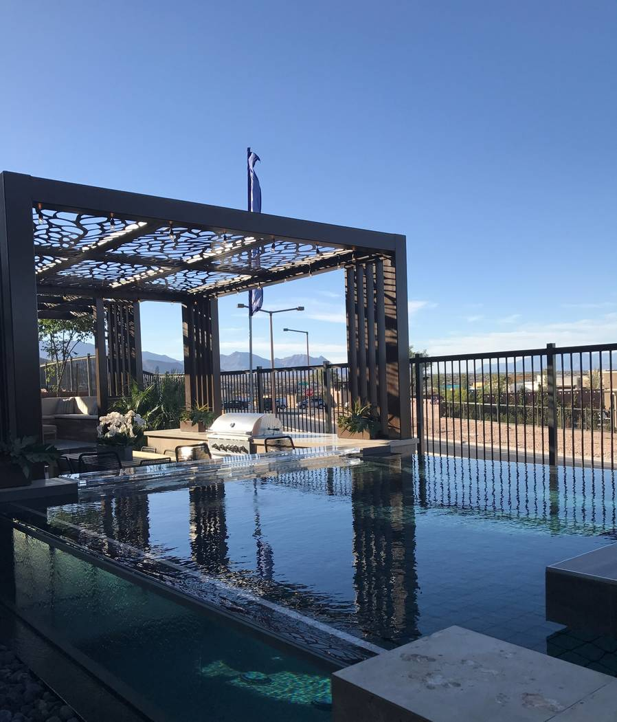 Granite Heights by Toll Brothers in The Cliffs village is on an elevated ridgeline in Summerlin's southernmost region. This model home offers a view from its backyard. (Summerlin)