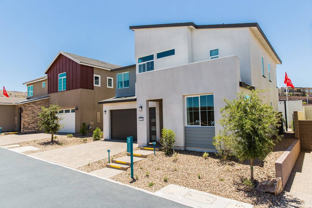 Pardee Pardee Homes' Pivot is celebrating its grand opening June 24 from 10 a.m. to 2 p.m. Shown is the midcentury modern Plan One model home. Pivot is off South Green Valley Parkway at Carnegie ...