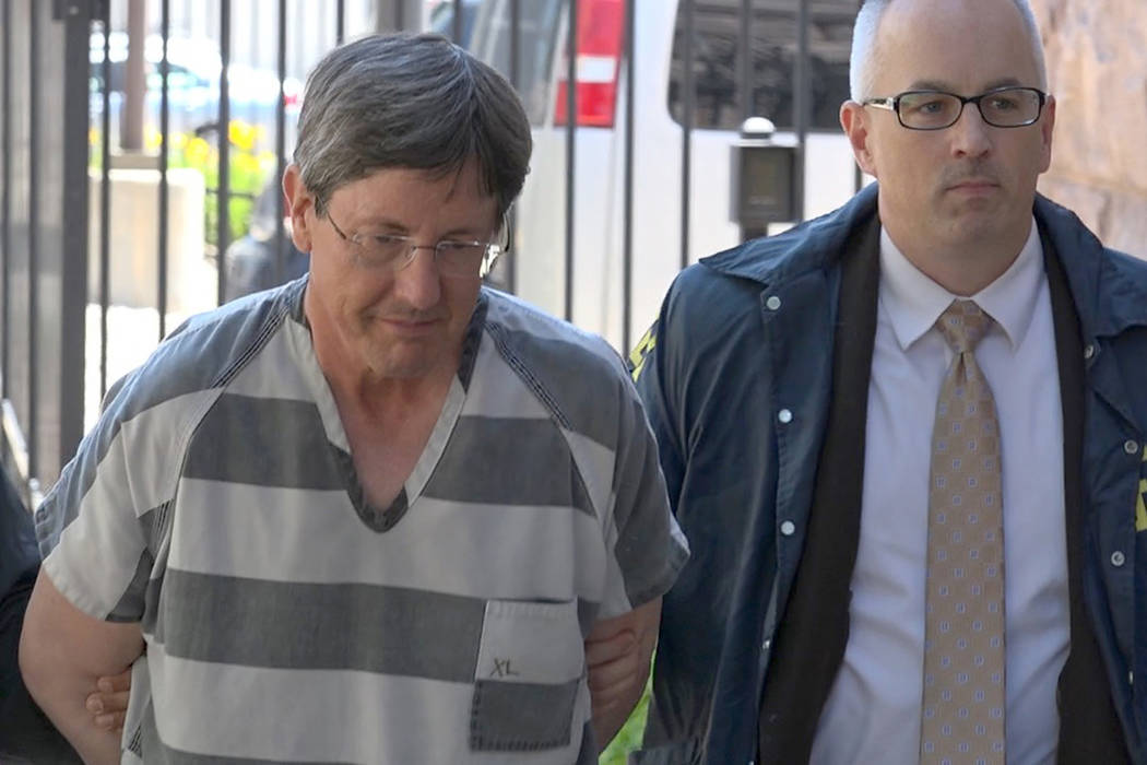 This frame grab from KSFY Television video shows polygamous sect leader Lyle Jeffs arriving at the Federal Courthouse Thursday, June 15, 2017, in Sioux Falls, S.D. Jeffs has been captured in South ...