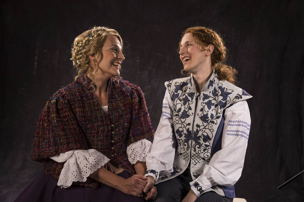 Susanna Florence (left) as Celia and Cassandra Bissell as Rosalind in the Utah Shakespeare Festival's 2017 production of As You Like It. (Photo by Karl Hugh. Copyright Utah Shakespeare Festival  ...