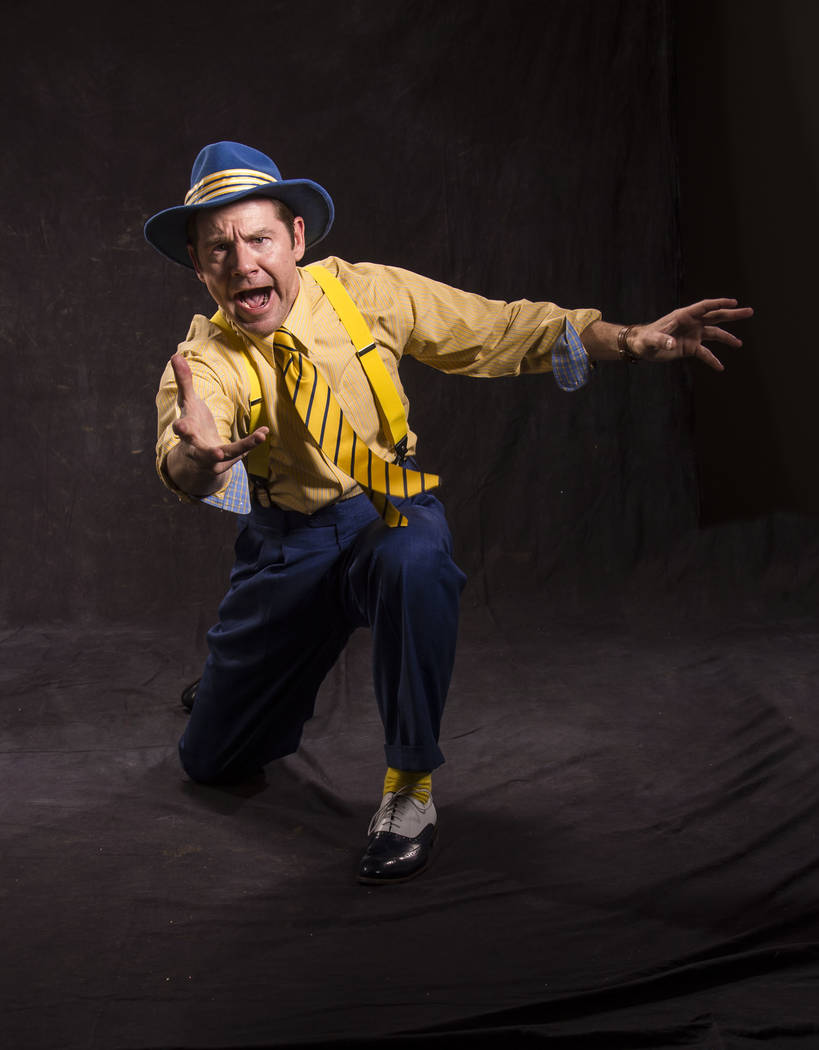 Brian Vaughn as Sky Masterson in the Utah Shakespeare Festival's 2017 production of Guys and Dolls. (Photo by Karl Hugh. Copyright Utah Shakespeare Festival 2017.)