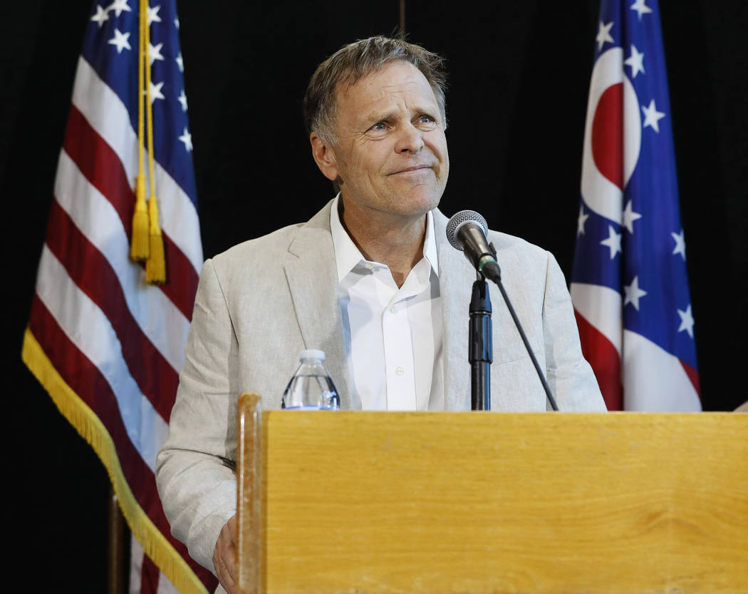 Fred Warmbier, father of Otto Warmbier, a University of Virginia undergraduate student who was imprisoned in North Korea in March 2016, speaks during a news conference, Thursday, June 15, 2017, at ...