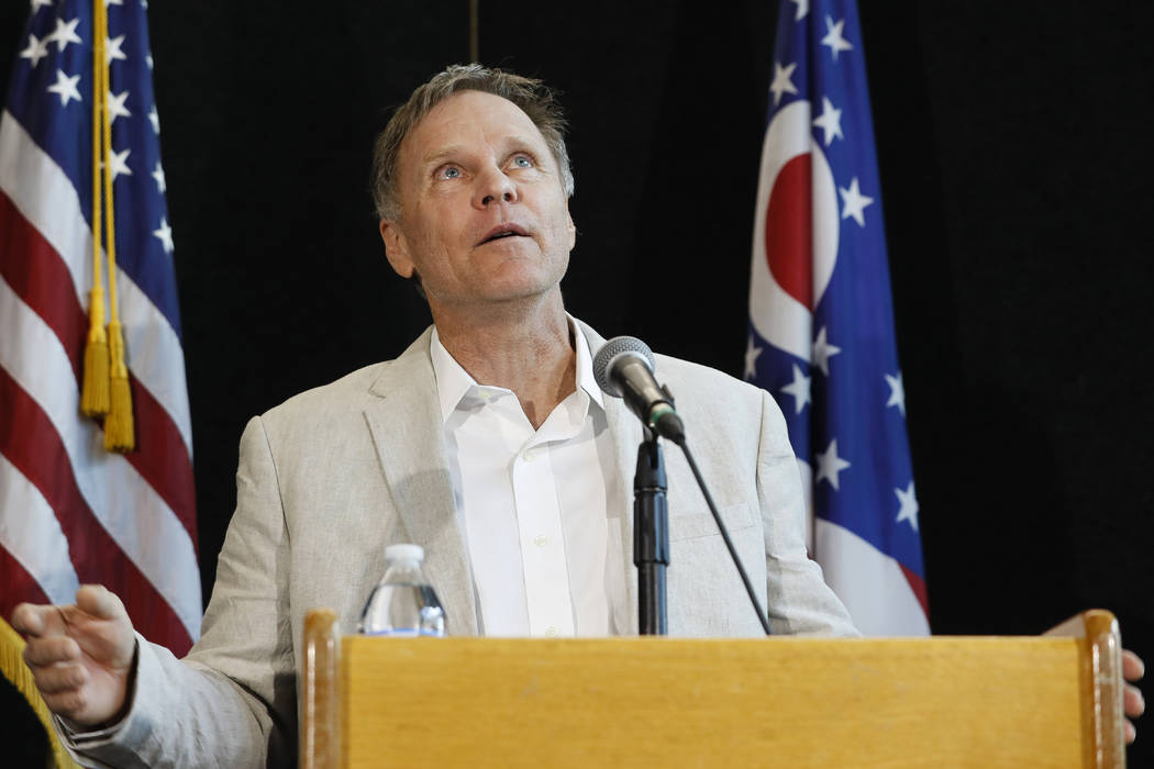 Fred Warmbier, father of Otto Warmbier, a University of Virginia undergraduate student who was imprisoned in North Korea in March 2016, speaks during a news conference at Wyoming High School in Ci ...