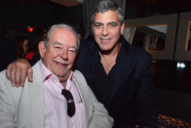 George Clooney and Robin Leach at the opening of Casa Amigos tequila at Andreas in the Encore in 2013. The company just sold for $1 billion to British spirits company Diageo. (Courtesy of Southern ...