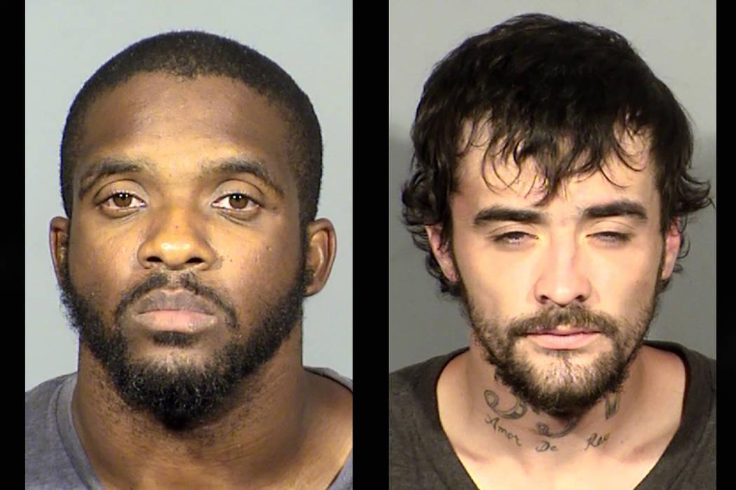 Isaac Bennett, left, and Jonathan Hamm (Las Vegas Metropolitan Police Department)