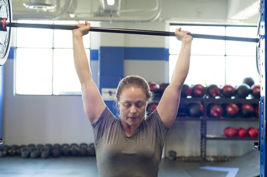 Amanda Westlund lifts during a workout at Camp Rhino's northwest location on Tuesday, June 13, 2017, in Las Vegas. Bridget Bennett Las Vegas Review-Journal @bridgetkbennett