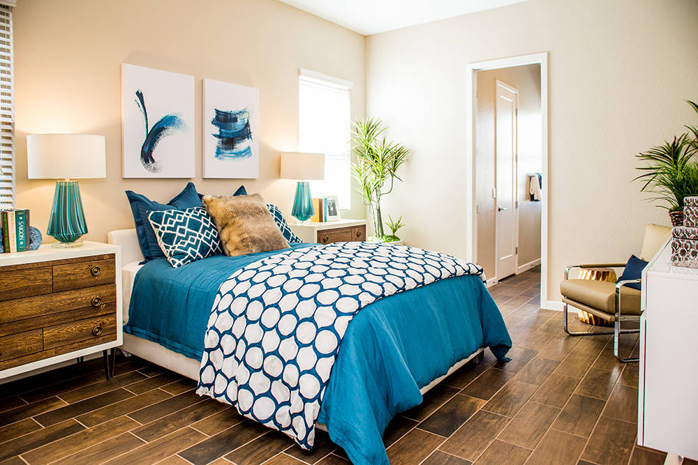 A guest room in Jeffery Ho's new home in Lennar's The Canyons in Henderson. (Tonya Harvey RjNewHomes.Vegas)