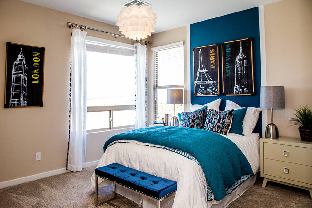 Another guest room in a home in Lennar's The Canyons in Henderson. (Tonya Harvey RjNewHomes.Vegas)