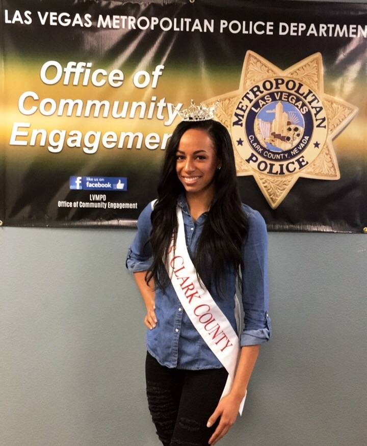 Andrea Martinez works with area police officers at the Office of Community Engagement. (Andrea Martinez)