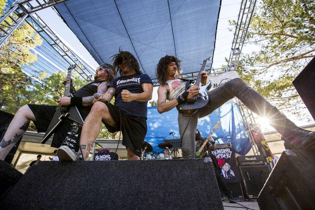 Municipal Waste performs at Vans Warped Tour at the Hard Rock Hotel and Casino on Friday, June 23, 2017.  Patrick Connolly Las Vegas Review-Journal @PConnPie