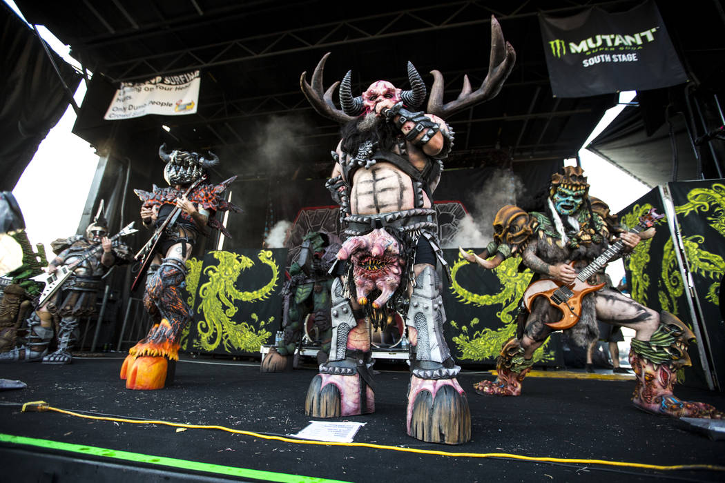 GWAR performs at Vans Warped Tour at the Hard Rock Hotel and Casino on Friday, June 23, 2017.  Patrick Connolly Las Vegas Review-Journal @PConnPie
