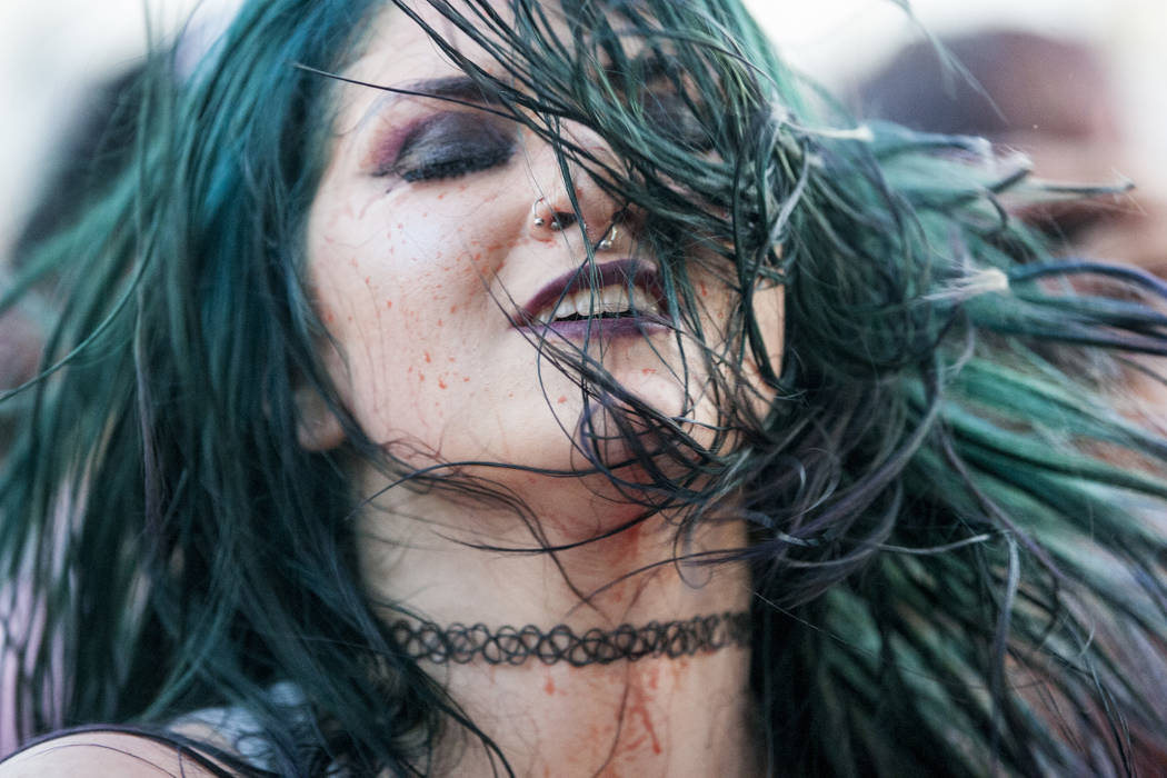 Aleke Rickert enjoys GWAR's performance at Vans Warped Tour at the Hard Rock Hotel and Casino on Friday, June 23, 2017.  Patrick Connolly Las Vegas Review-Journal @PConnPie