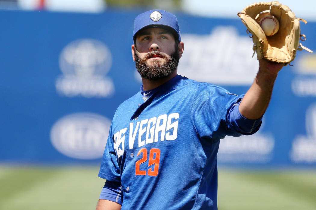 Las Vegas 51s pitcher Chasen Bradford, pictured from April 30, blew a save Wednesday with two outs in the ninth inning against the Tacoma Rainiers. Elizabeth Brumley Las Vegas Review-Journal @EliP ...