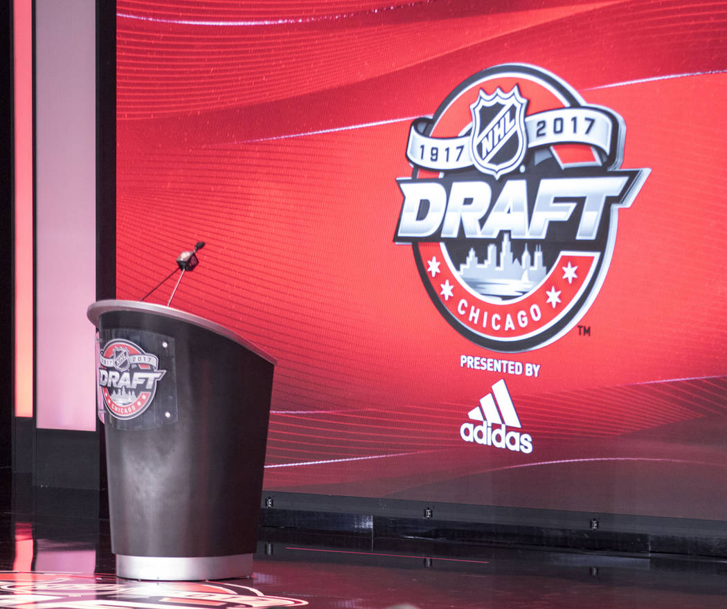 The stage is set for the 2017 NHL Entry Draft in the United Center in Chicago, Illinois, on Friday, June 23, 2017. Heidi Fang/Las Vegas Review-Journal @HeidiFang
