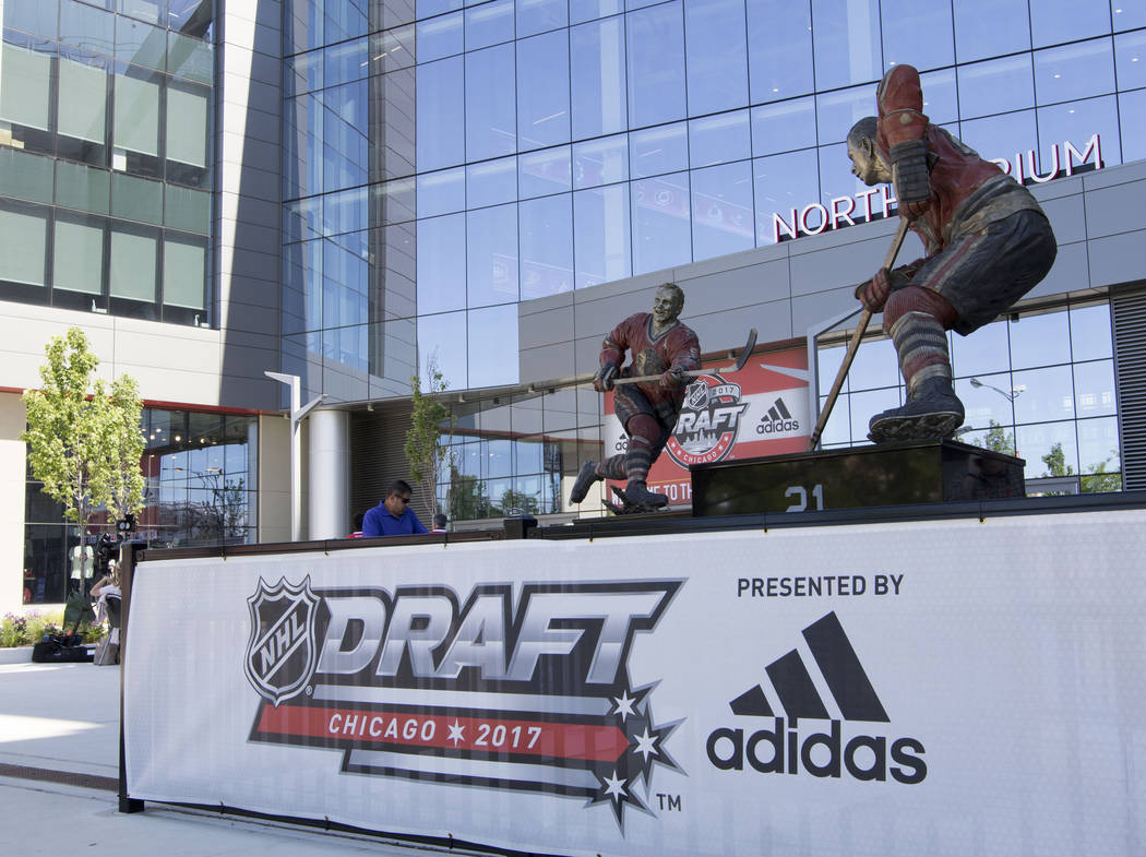 The first day of the 2017 NHL Entry Draft will take place at the United Center in Chicago, Illinois, on Friday, June 23, 2017. Heidi Fang/Las Vegas Review-Journal @HeidiFang