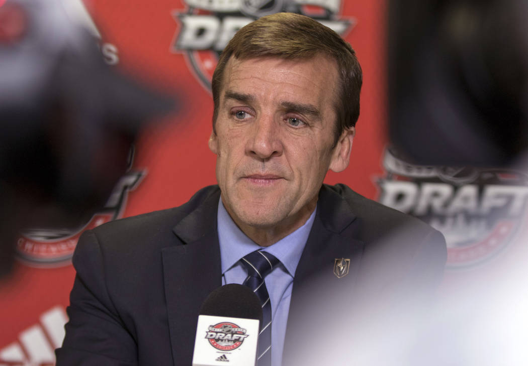 Vegas Golden Knights general manager George McPhee at the 2017 NHL Entry Draft at the United Center in Chicago on Saturday, June 24, 2017. Heidi Fang/Las Vegas Review-Journal @HeidiFang