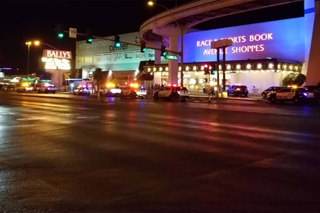Las Vegas police are investigating a shooting that took place in a Bally's parking lot. (Mike Shoro/Las Vegas Review-Journal)