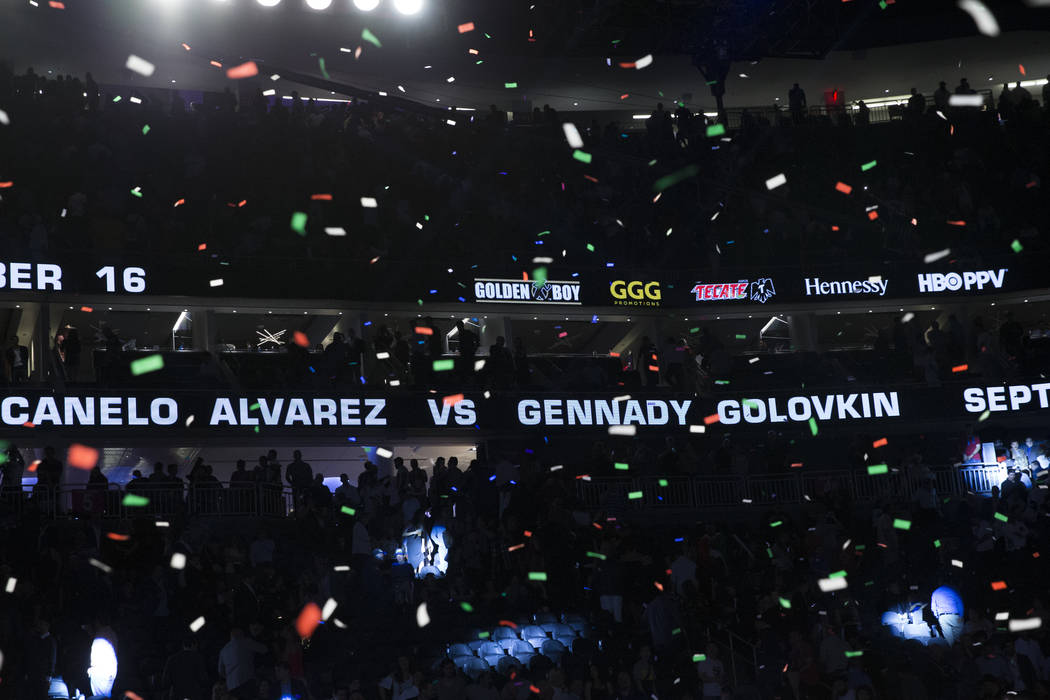 The fight between Gennady Golovkin and Saul Canelo Alvarez in announced at T-Mobile Arena on Saturday, May 6, 2017, in Las Vegas. Erik Verduzco Las Vegas Review-Journal @Erik_Verduzco