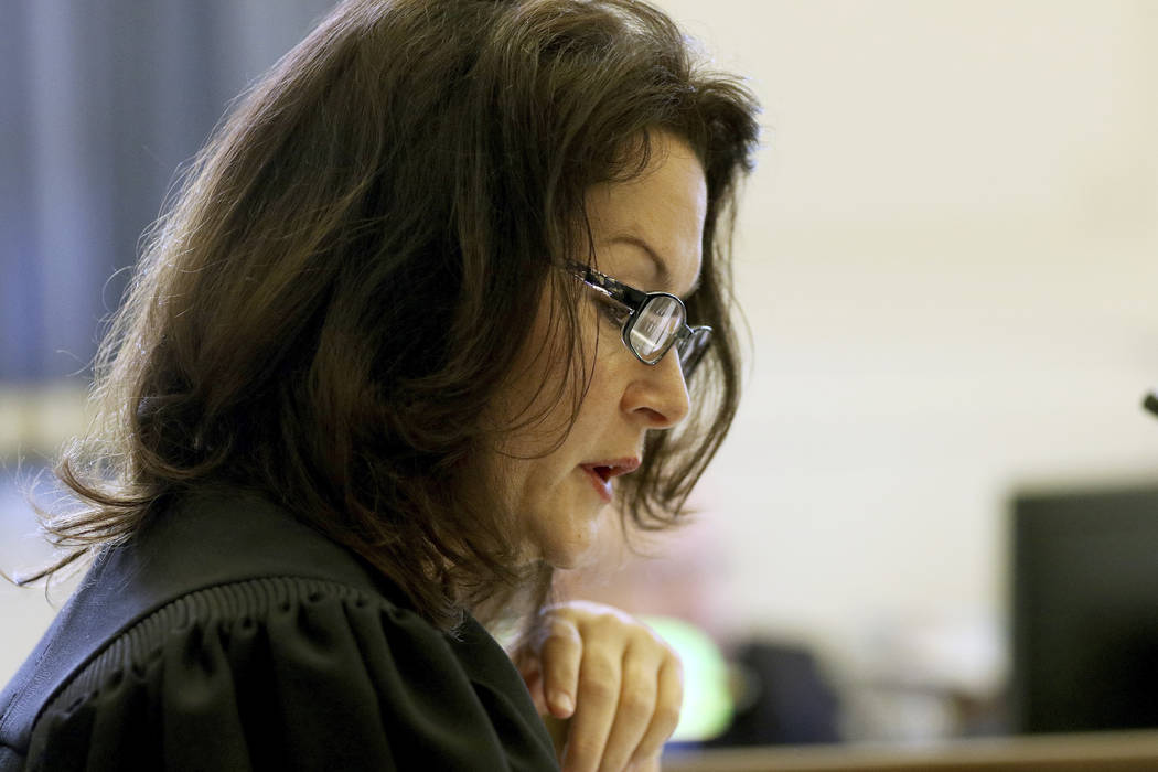"Judge Leslie Ghiz reads what is known as the ""Allen charge,"" which instructs jurors to re-examine their opinion after the jury said they are deadlocked during former University o ..."