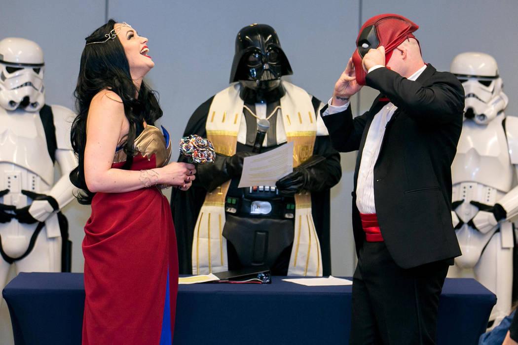 Adam Merica unmasks himself during the ceremony. (Linda Wang/The Washington Post)