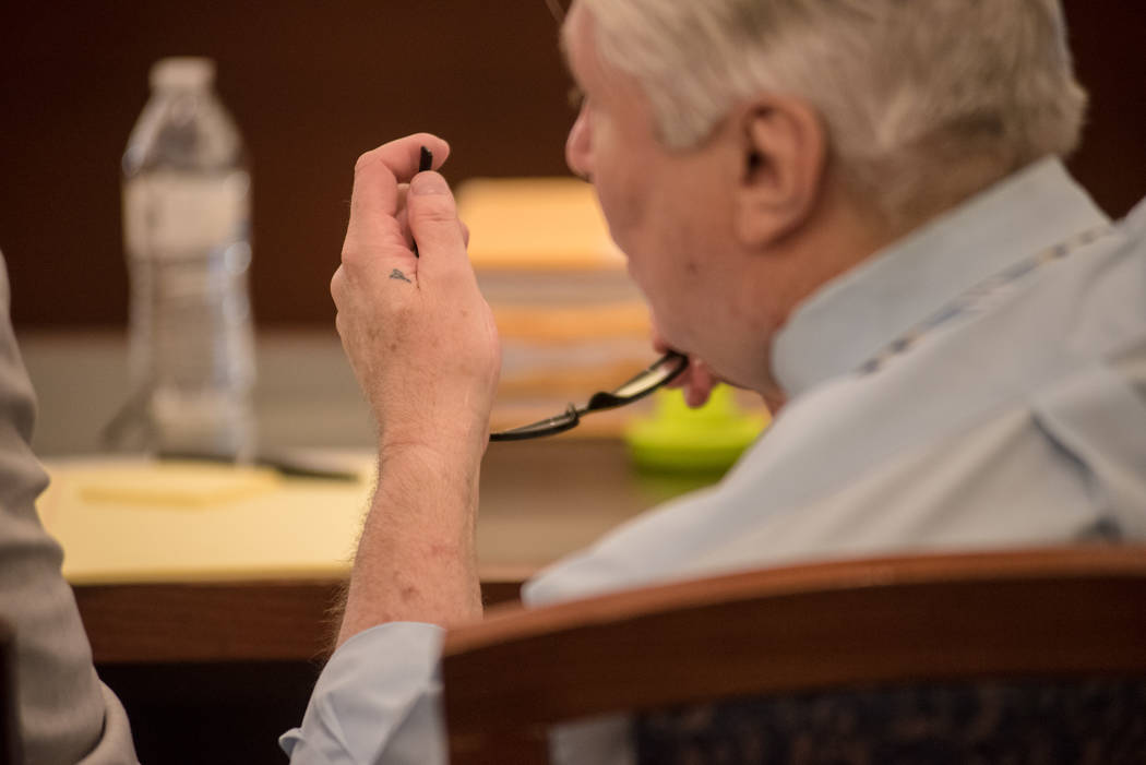 Thomas Randolph sits with his attorneys before trial on Wednesday, June 21, 2017, at Regional Justice Center in Las Vegas. Morgan Lieberman Las Vegas Review-Journal
