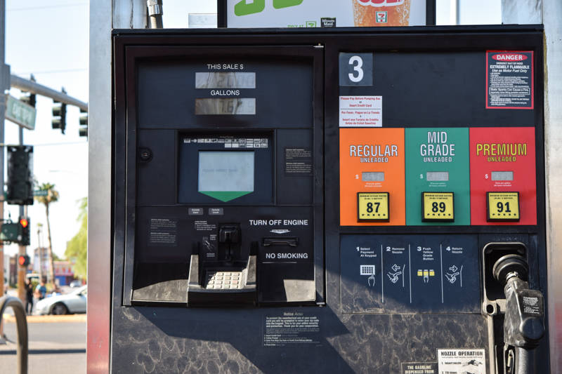 Gas pumps are easier to access than A.T.M. machines, which is why criminals are inserting skimming devices in them more frequently, said Henderson public relations officer Scott Williams. (Alex Me ...