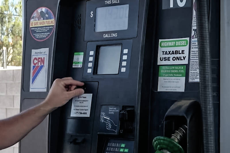 Criminals have been known to use these devices in tandem with hidden cameras situated above the card reader that record an individual entering their pin or zip code. (Henderson Police Department)