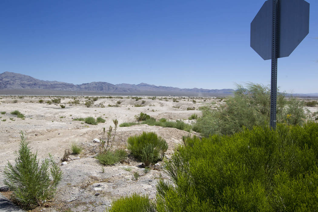 The Villages at Tule Springs project site in North Las Vegas on Monday, June 26, 2017. (Richard Brian/Las Vegas Review-Journal) @vegasphotograph