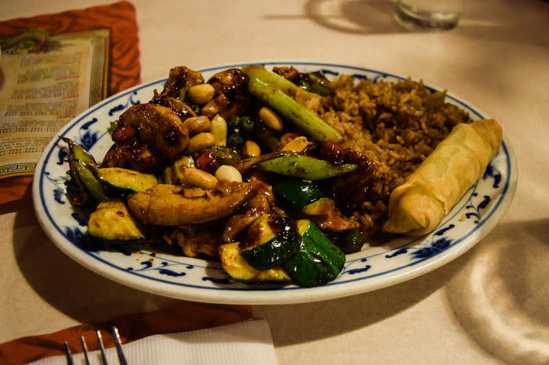 Lotus also offers healthy vegetable options typically steamed and served with fried rice. (Alex Meyer/View) @alxmey