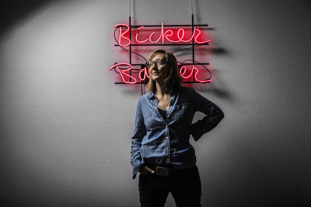 Sculptor Allison Wiese is the Neon Museum's current artist-in-residence. Photo taken on Thursday, June 15, 2017, at Wiese's studio, in Las Vegas. Benjamin Hager Las Vegas Review-Journal @benjaminh ...