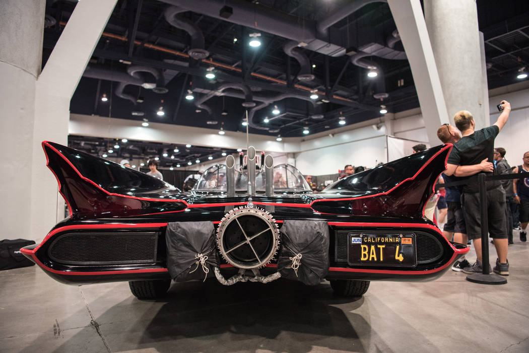 "#4 Batmobile from the 1966 ""Batman"" television series, on display at  Las Vegas Comic Con on Friday, June 23, 2017, at Las Vegas Convention Center in Las Vegas. Morgan Lieberman  ..."