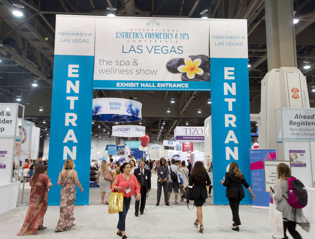 The International Esthetics Cosmetics and Spa Conference is underway at the Las Vegas Convention Center in Las Vegas, Sunday, June 25, 2017. Elizabeth Brumley Las Vegas Review-Journal