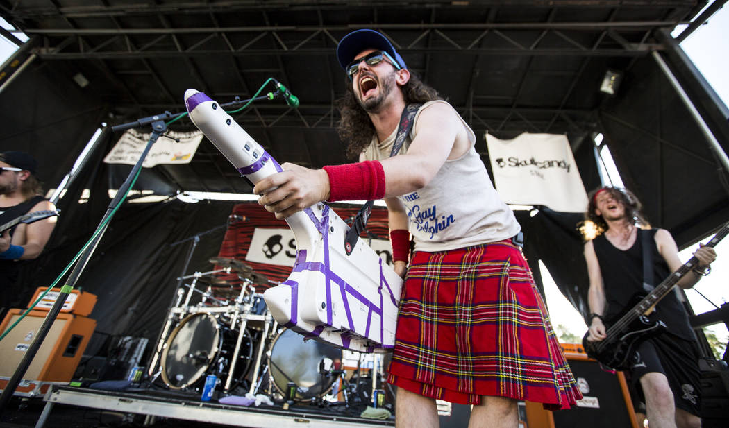 Christopher Bowes of Alestorm performs at Vans Warped Tour at the Hard Rock Hotel and Casino on Friday, June 23, 2017.  Patrick Connolly Las Vegas Review-Journal @PConnPie