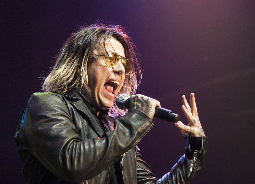 Ronnie Radke of Falling in Reverse performs at Vans Warped Tour at the Hard Rock Hotel and Casino on Friday, June 23, 2017.  Patrick Connolly Las Vegas Review-Journal @PConnPie