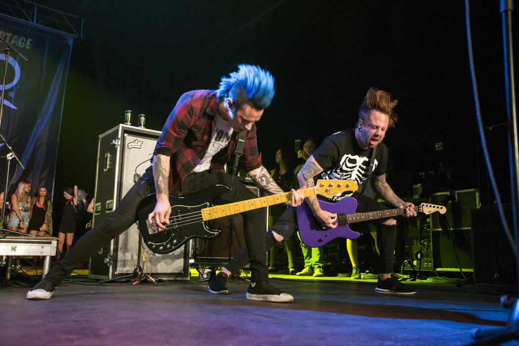 Falling in Reverse performs at Vans Warped Tour at the Hard Rock Hotel and Casino on Friday, June 23, 2017.  Patrick Connolly Las Vegas Review-Journal @PConnPie