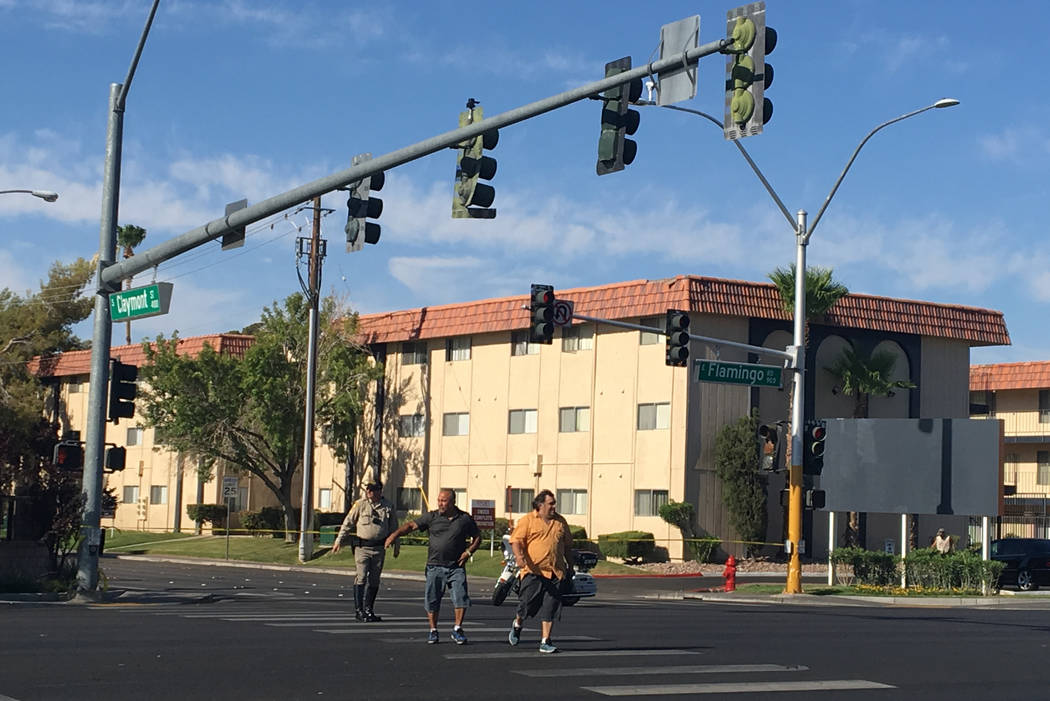 Police are investigating after a woman died Saturday morning after she was struck by a car in the central valley. Bizuayehu Tesfaye Las Vegas Review-Journal