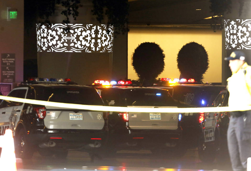 Las Vegas police are attempting to contact a man who barricaded himself in a stolen car at The Cosmopolitan hotel-casino on Saturday, June 24, 2017, in Las Vegas. Bizuayehu Tesfaye Las Vegas Revie ...