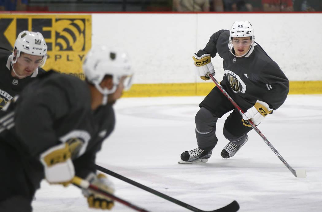 Vegas Golden Knights' Erik Brannstrom during the team's development camp at Las Vegas Ice Center on Tuesday, June 27, 2017. Chase Stevens Las Vegas Review-Journal @csstevensphoto