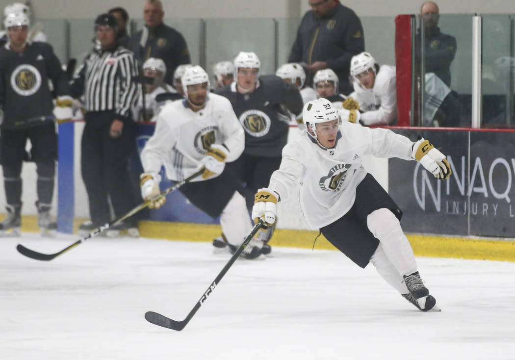 Vegas Golden Knights' Alex Barre-Boulet during a scrimmage as part of the team's development camp at Las Vegas Ice Center in Las Vegas on Friday, June 30, 2017. Chase Stevens Las Vegas Review-Jour ...