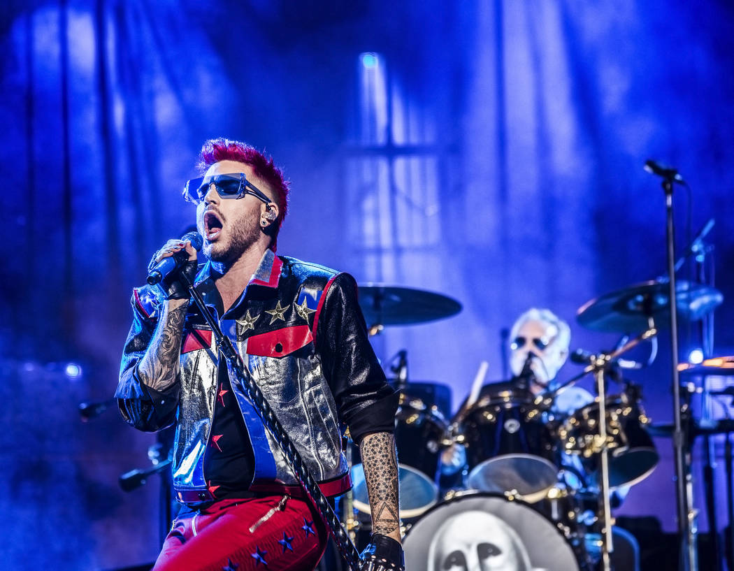 Adam Lambert performs with Queen on Saturday, June 24, 2017, at T-Mobile Arena, in Las Vegas. Benjamin Hager Las Vegas Review-Journal @benjaminhphoto