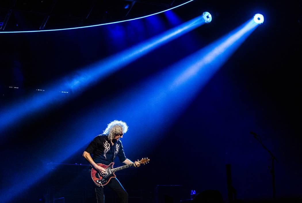 Queen guitarist Brian May performs on Saturday, June 24, 2017, at T-Mobile Arena, in Las Vegas. Benjamin Hager Las Vegas Review-Journal @benjaminhphoto