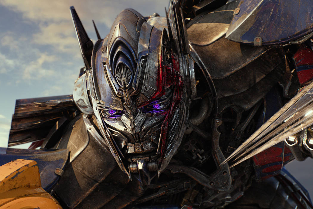 """This image released by Paramount Pictures shows Optimus Prime in a scene from, """"Transformers: The Last Knight."""" (Paramount Pictures/Bay Films via AP)"""