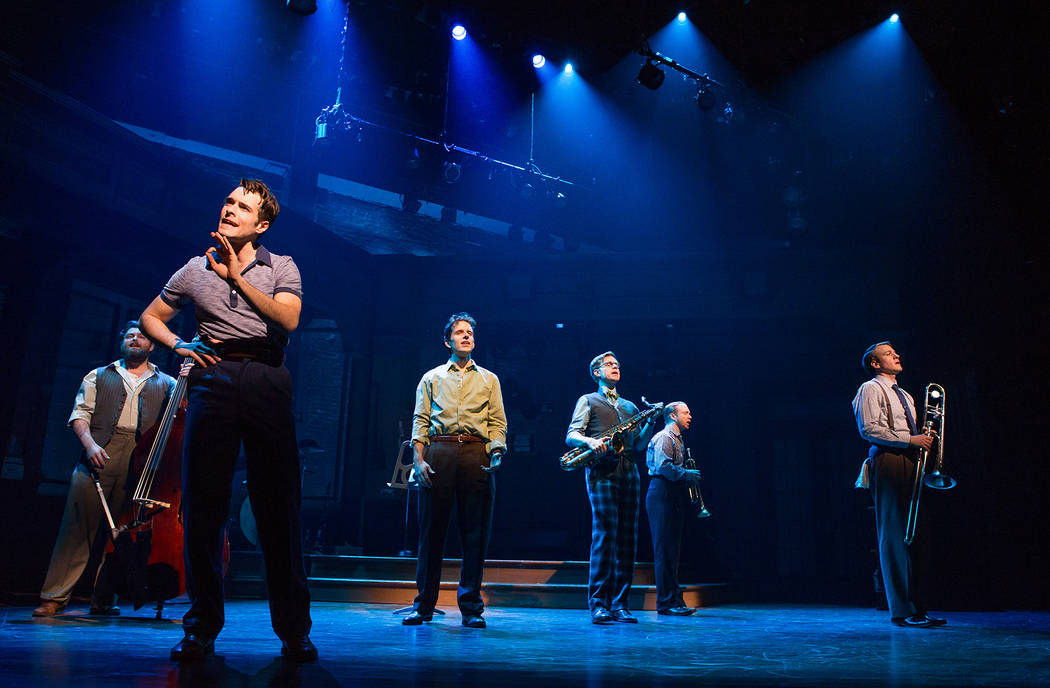 """Corey Cott, as Danny Novitzkiy is shown in a promotional shot for the Broadway musical """"Bandstand,"""" co-written by Las Vegas composers Richard Oberacker and Robert Taylor. (Jeremy Daniel)"""