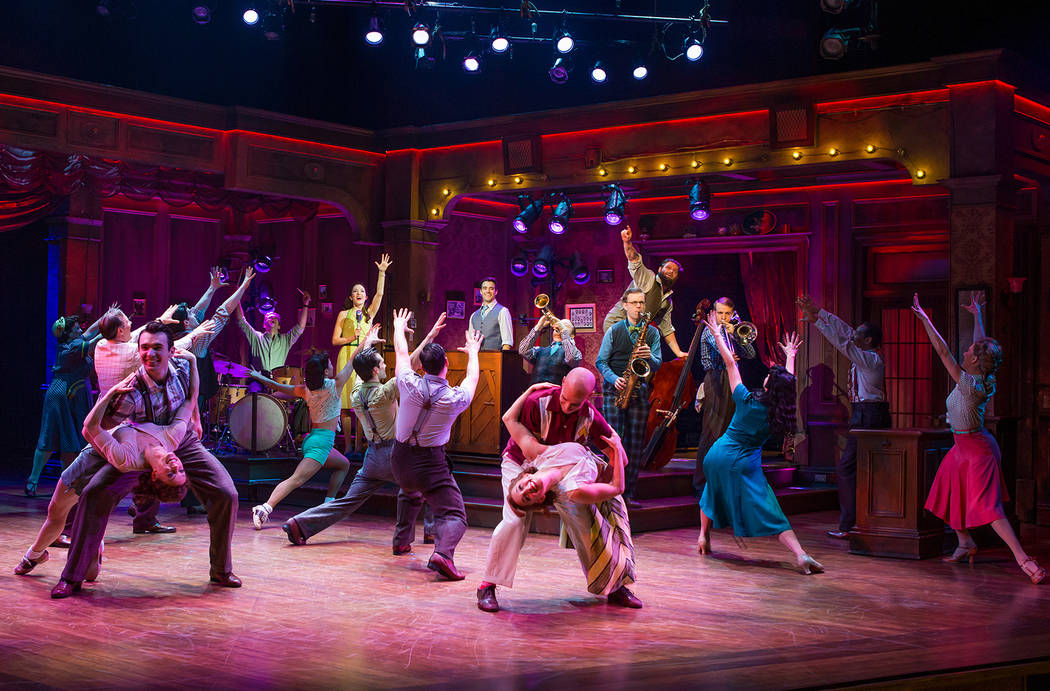 """The cast of the Broadway musical """"Bandstand,"""" co-written by Las Vegas composers Richard Oberacker and Robert Taylor. (Jeremy Daniel)"""