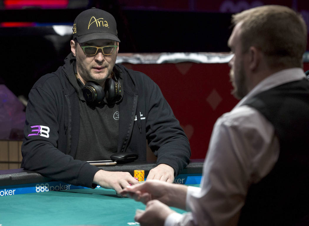 Phil Hellmuth plays a hand during the World Series of Poker on Monday, June 26, 2017, at the Rio hotel-casino, in Las Vegas. Richard Brian Las Vegas Review-Journal @vegasphotograph