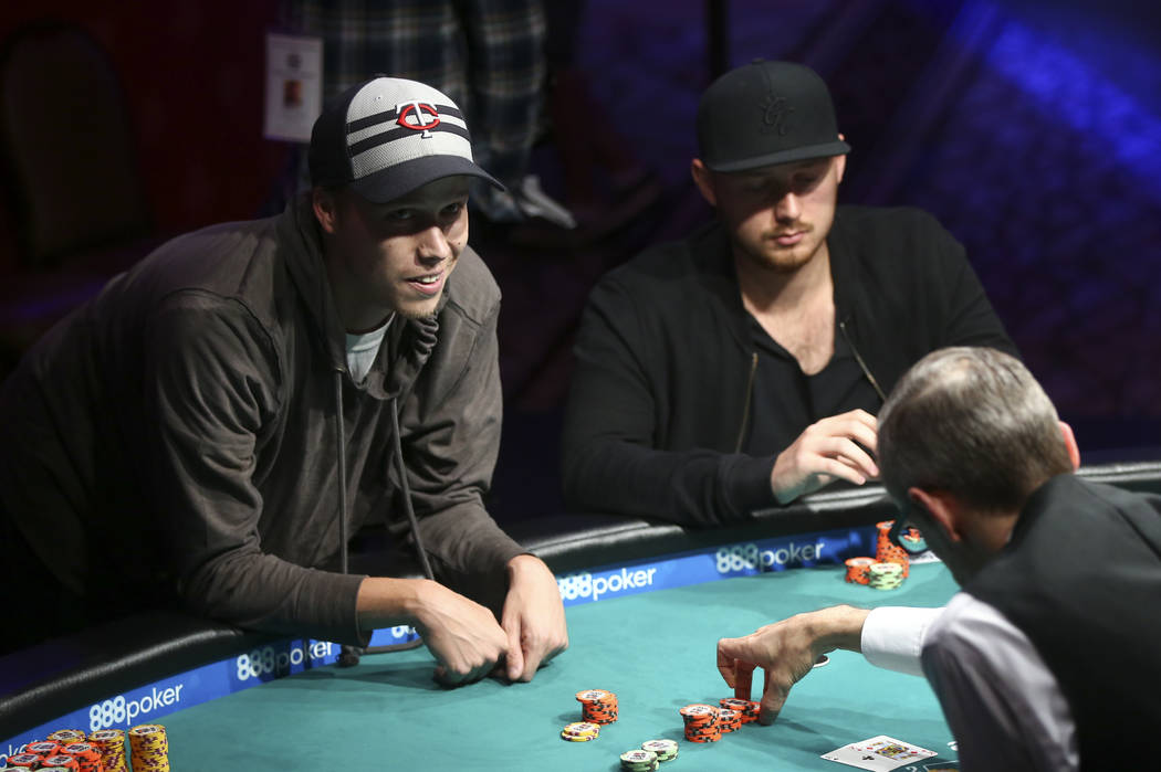 Carson City resident Ian Steinman competes in the $1,500 No-Limit Hold'em event during the World Series of Poker at the Rio hotel-casino in Las Vegas on Thursday, June 29, 2017. Chase Stevens Las  ...