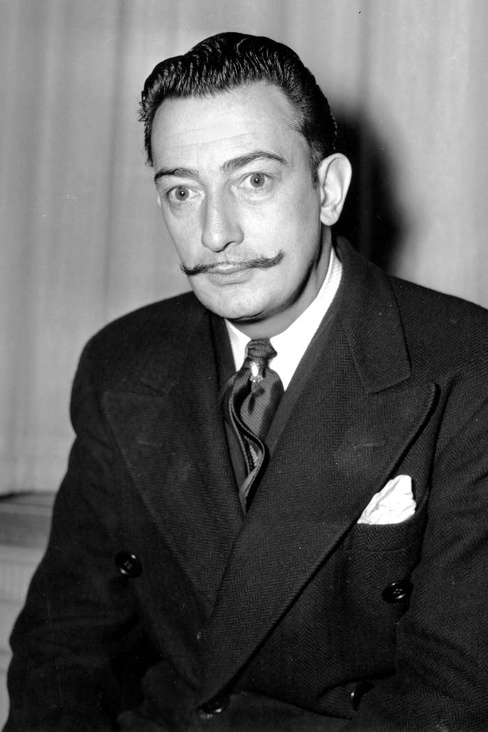 In this file photo taken on Nov. 4, 1942 Spanish surrealist painter, Salvador Dali is pictured in New York. A Spanish judge on Monday June 26, 2017, has ordered the remains of artist Salvador Dali ...