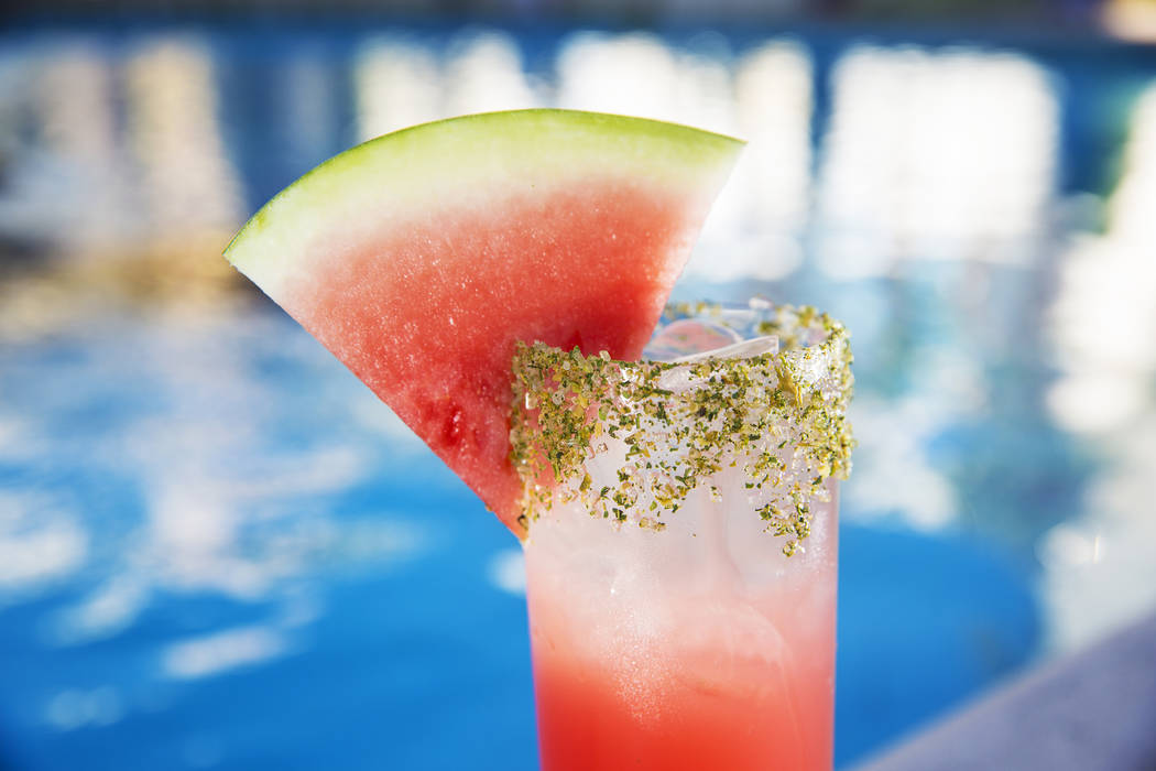 Kiss My Melons, with Effen cucumber vodka, Chareau aloe liqueur, lustau manzanilla sherry, watermelon limeade and soda at The Other Room at The Forum Shops on Wednesday, June 21, 2017, at Caesars  ...