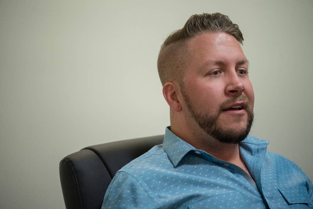 Travis Turner, executive director at Executive Pride talks about the gay rights movement at McDonald Law Group in Henderson on Tuesday, June 27, 2017. Morgan Lieberman Las Vegas Review-Journal